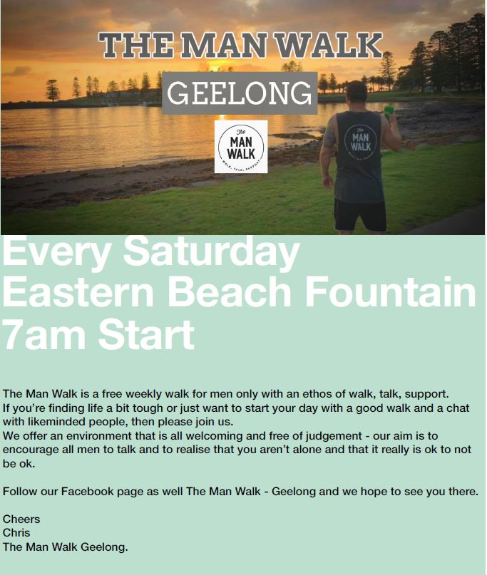 the-man-walk-geelong supports mental health